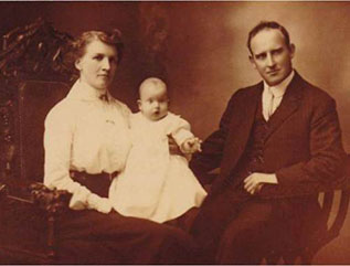 Bert Shepherd with his Wife Elizabeth and their son Frederick George James